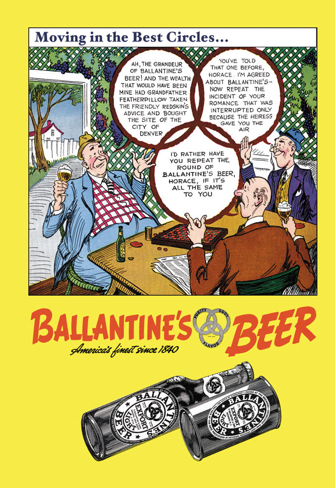 BALLANTINE'S BEER - MOVING IN THE BEST CIRCLES