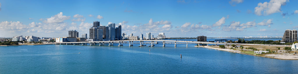 DOWNTOWN MIAMI AND BISCAYNE BAY PANORAMIC