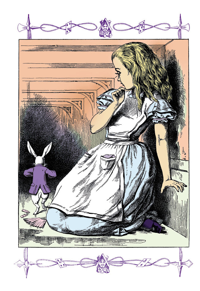 ALICE IN WONDERLAND: ALICE WATCHES THE WHITE RABBIT