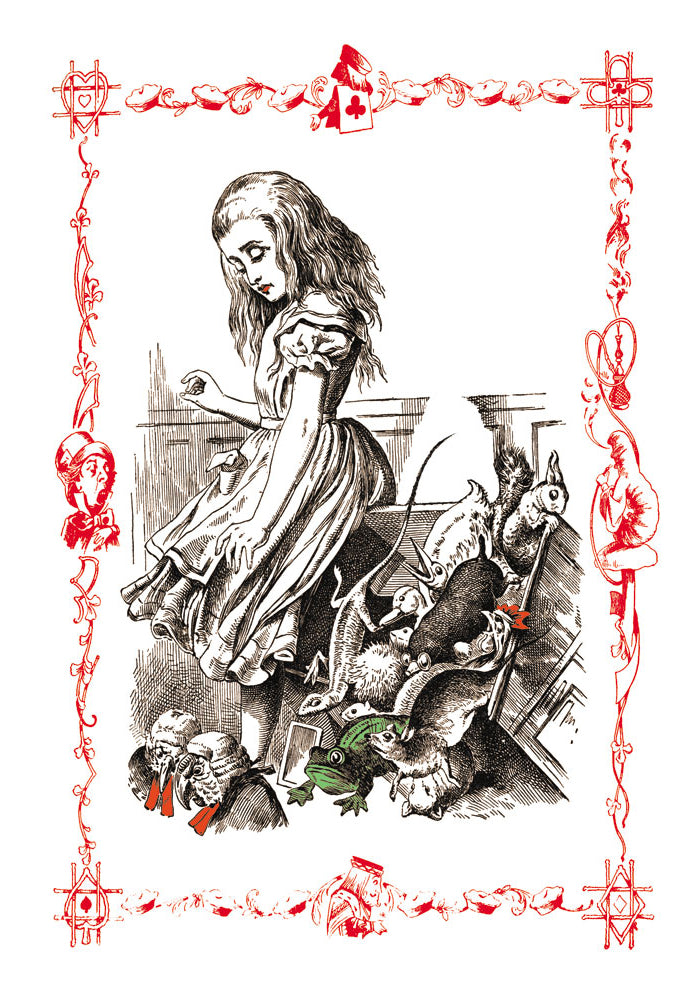 ALICE IN WONDERLAND: ALICE TIPS OVER THE JURY BOX