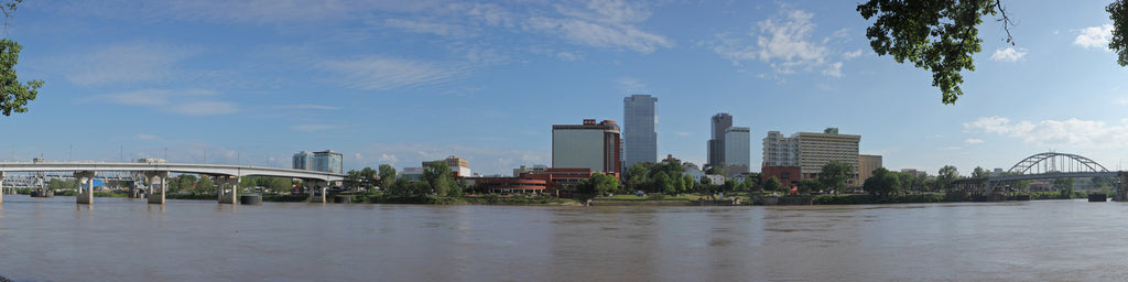 LITTLE ROCK SKYLINE ACROSS THE ARKANSAS RIVER