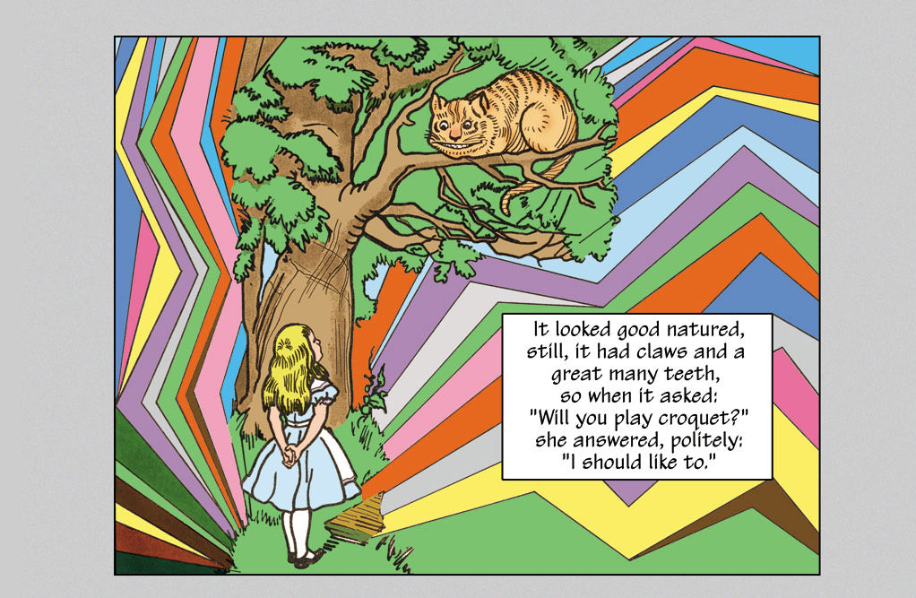 ALICE IN WONDERLAND: ALICE AND THE CHESHIRE CAT