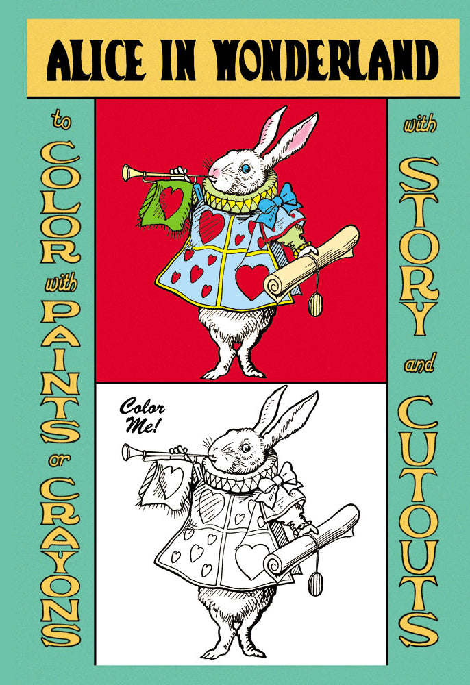 ALICE IN WONDERLAND: THE WHITE RABBIT - COLOR ME!
