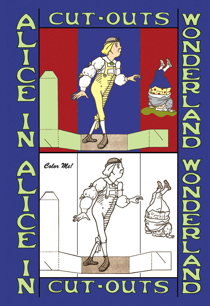 ALICE IN WONDERLAND: YOUNG MAN AND FATHER WILLIAM - COLOR ME!