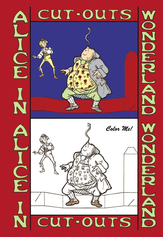 ALICE IN WONDERLAND: FATHER WILLIAM BALANCES AN EEL - COLOR ME!