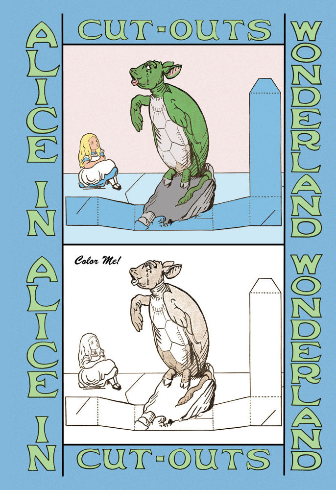 ALICE IN WONDERLAND: MOCK TURTLE - COLOR ME!