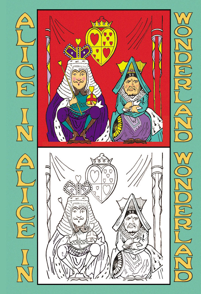 ALICE IN WONDERLAND: KING AND QUEEN OF HEARTS - COLOR ME!
