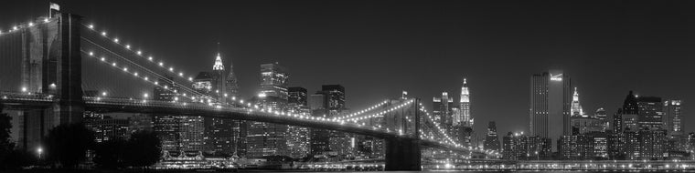BLACK AND WHITE NYC SKYLINE