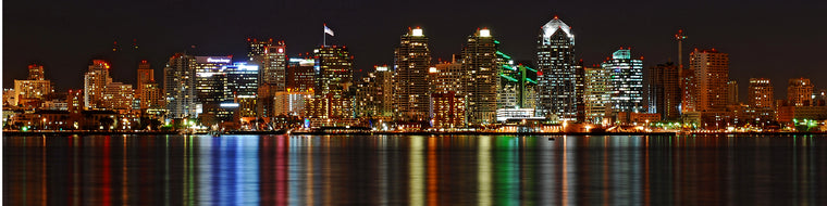 SAN DIEGO REFLECTION AT NIGHT