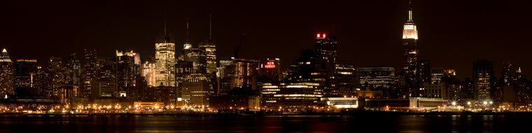 NYC PANORAMIC AT NIGHT