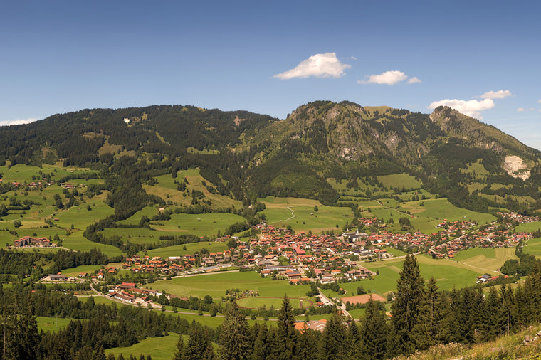 Bad Hindelang, Bavaria Town Panoramic