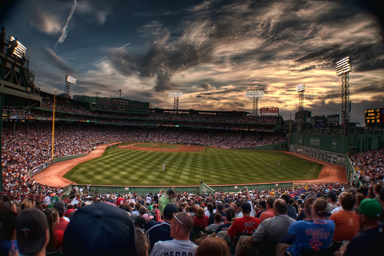Fenway Park at Sunset