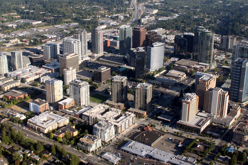 Aerial View of Bellevue, WA