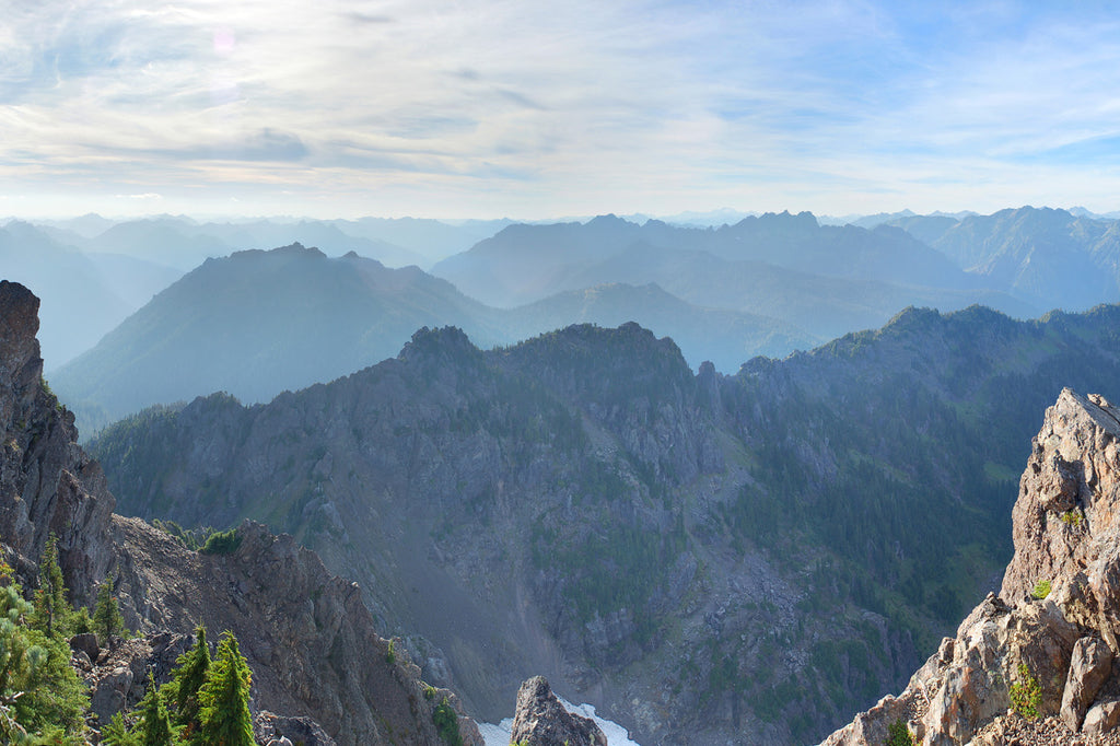 Mount Ellinor and Mount Washington Panoramic