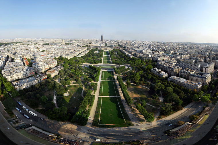 View from the Eiffel Tower of Lawns