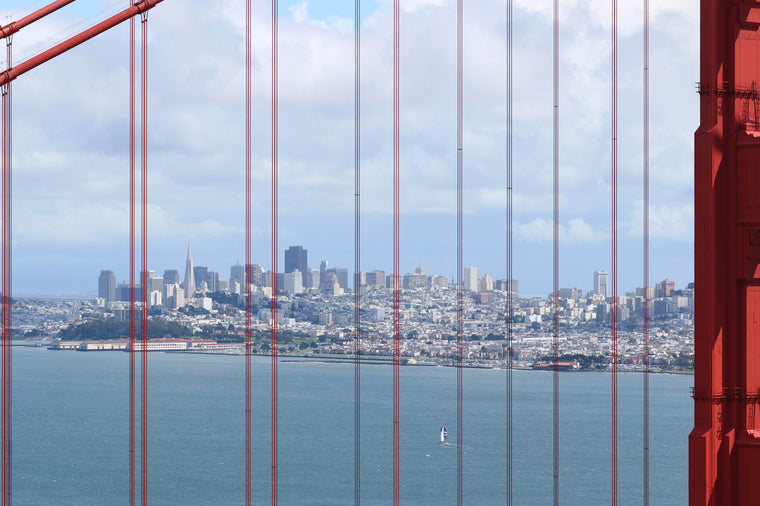 San Francisco Through the Golden Gate Bridge