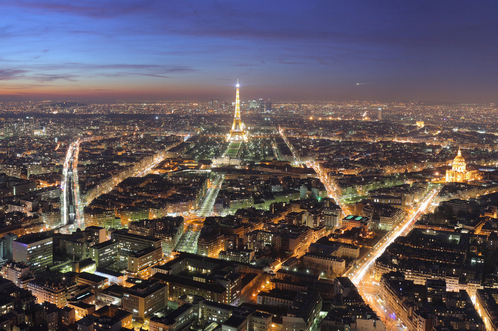Nightime Panoramic in Paris