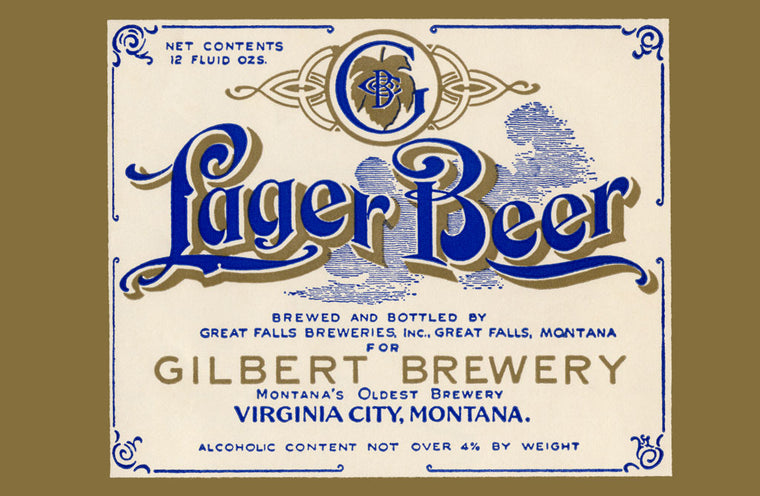 GILBERT BREWERY LAGER BEER