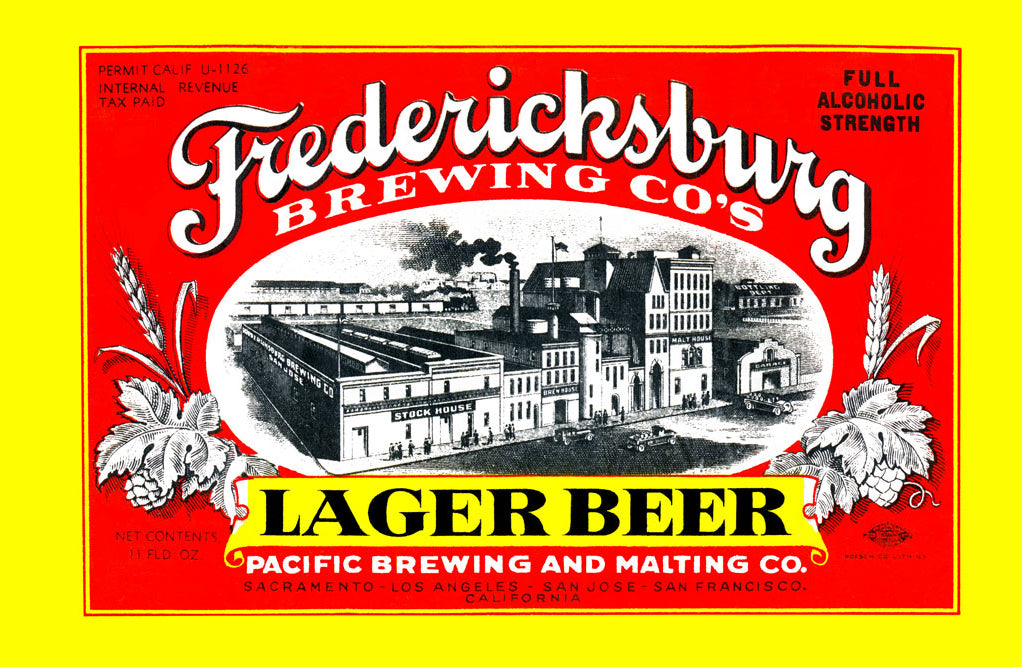 FREDERICKSBURG BREWING CO.'S LAGER BEER