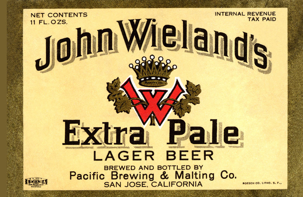 JOHN WIELAND'S EXTRA PALE LAGER BEER