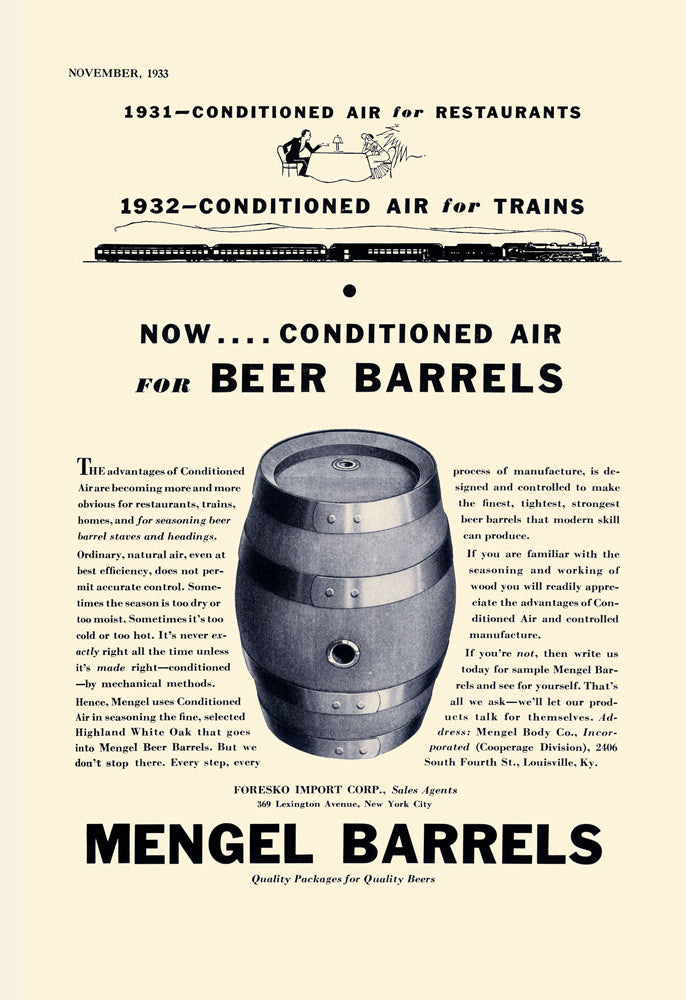 MENGEL BEER BARRELS
