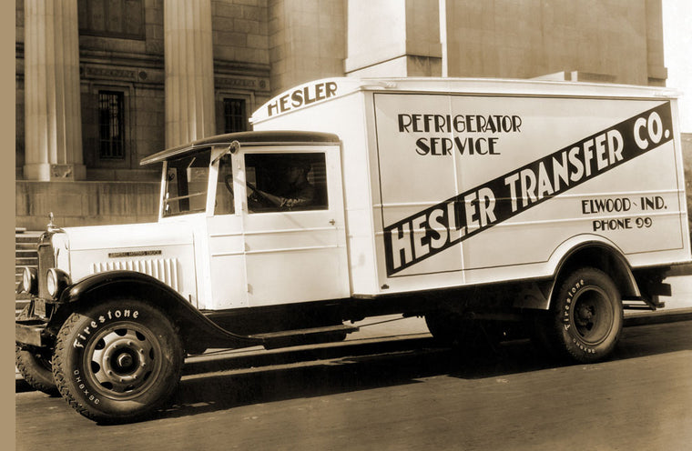 HESLER TRANSFER CO. DELIVERY TRUCK WITH REFRIGERATOR SERVICE