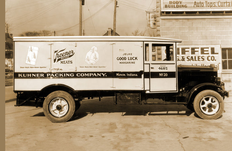 KUHNER PACKING COMPANY, MUNCIE, INDIANA DELIVERY TRUCK OF KEENER MEATS