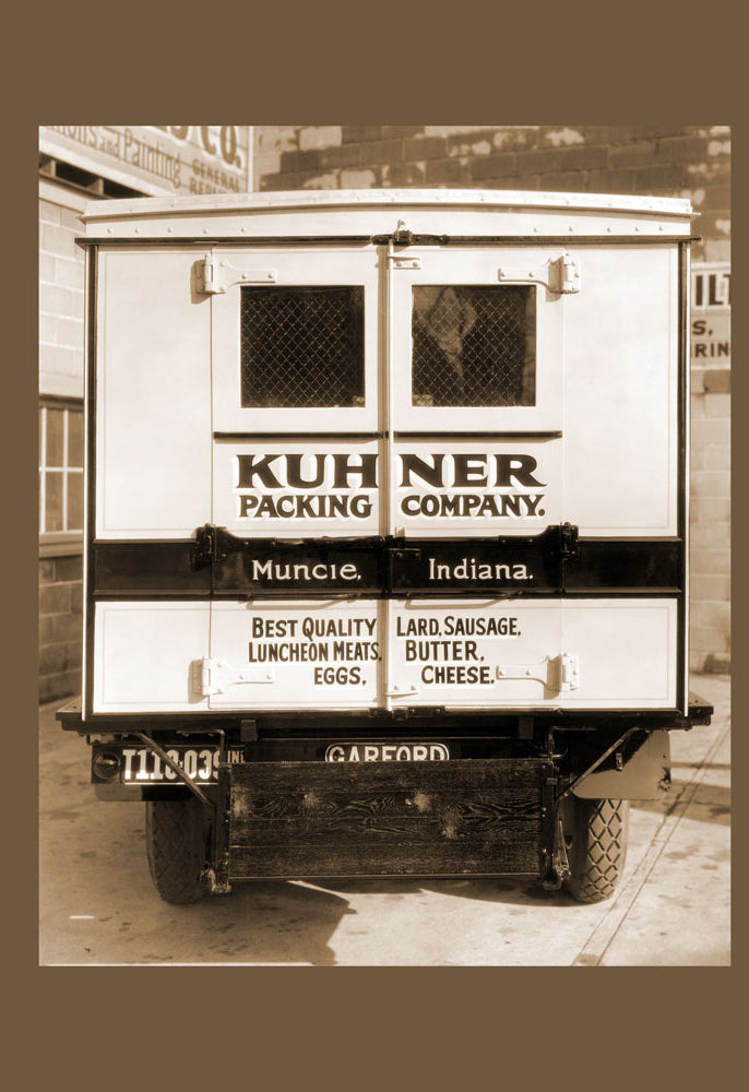 KUHNER PACKING COMPANY DELIVERY TRUCK - REAR VIEW