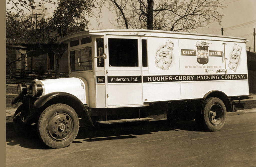 HUGHES-CURRY PACKING COMPANY, CREST-PURITY-BRAND DELIVERY TRUCK