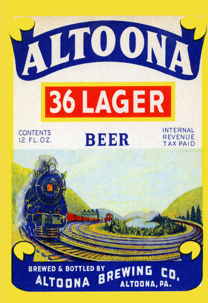 ALTOONA 36 LAGER BEER