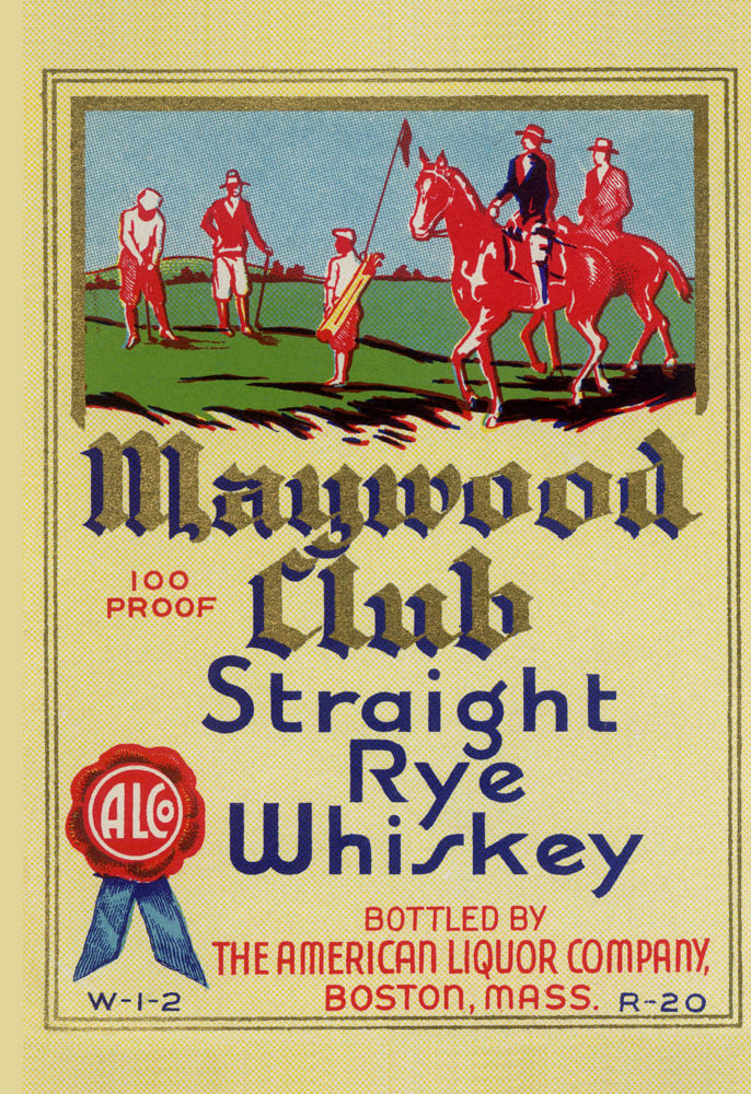 MAYWOOD CLUB STRAIGHT RYE WHISKEY
