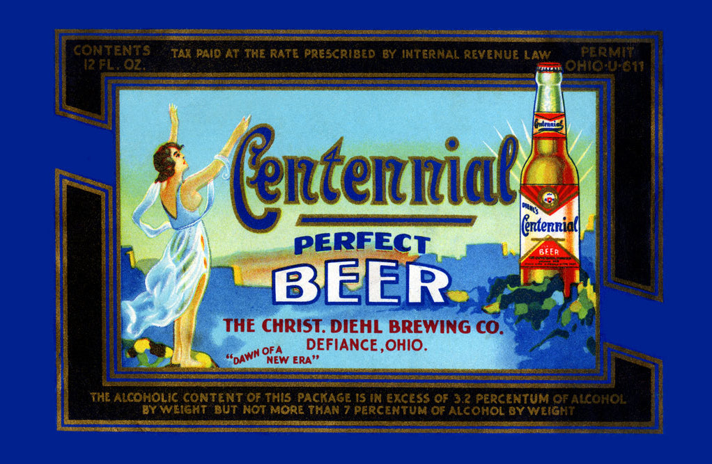 CENTENNIAL PERFECT BEER LABEL
