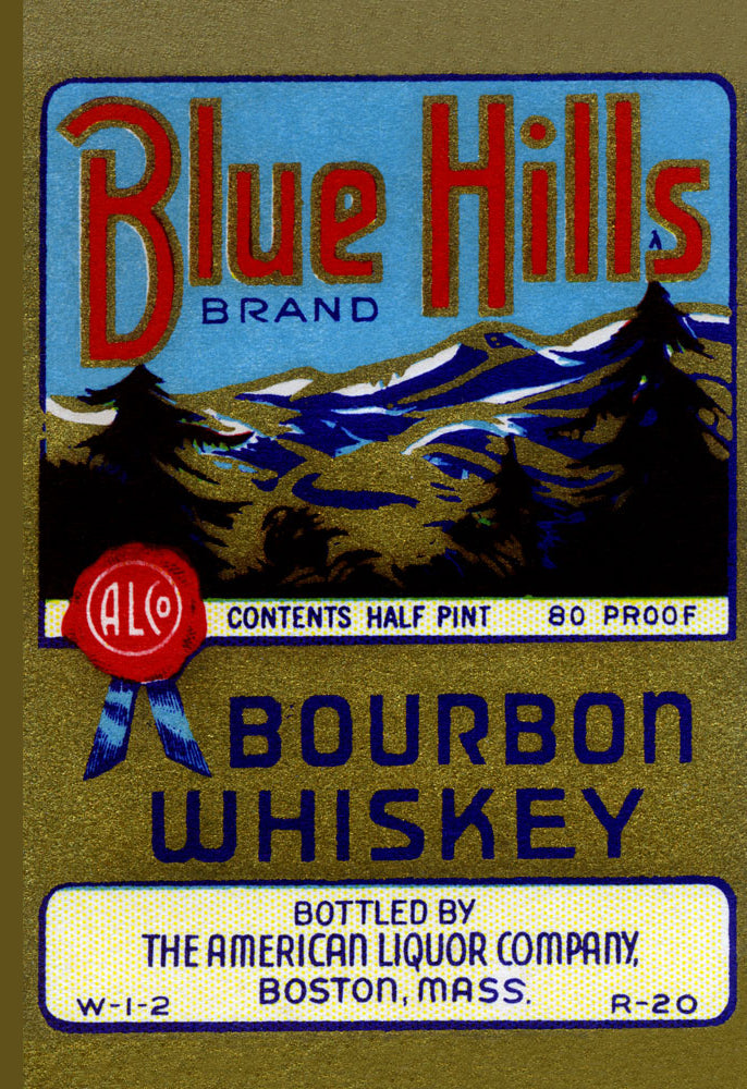 BLUE HILLS BOURBON WHISKEY