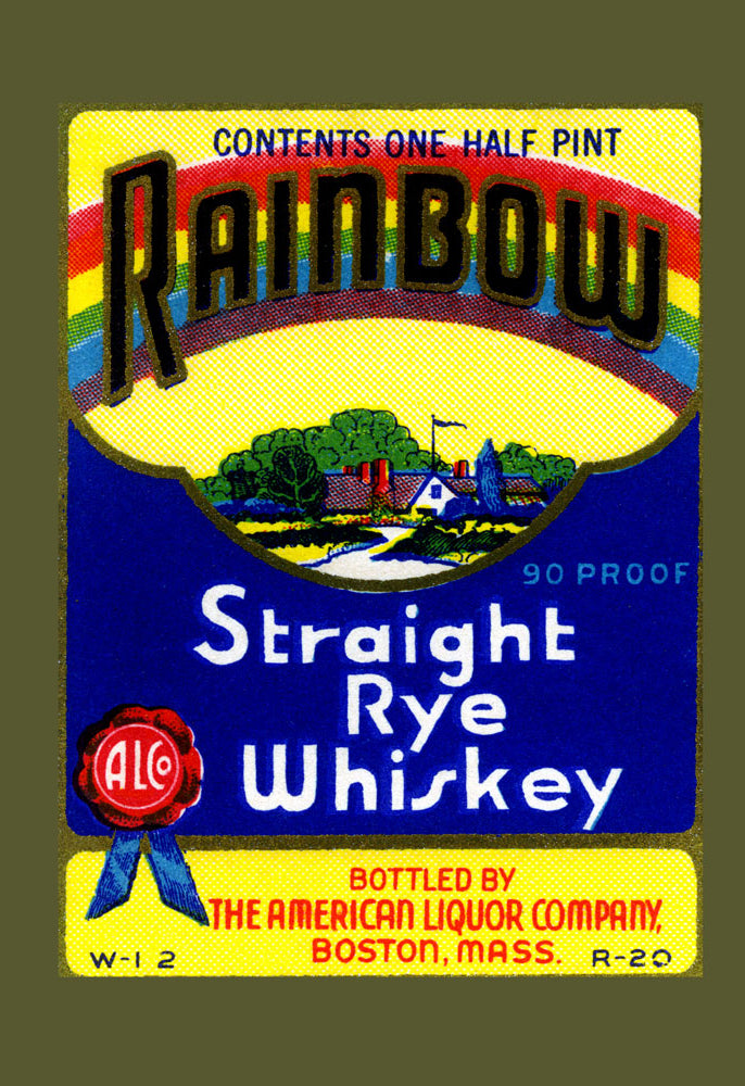 RAINBOW STRAIGHT RYE WHISKEY