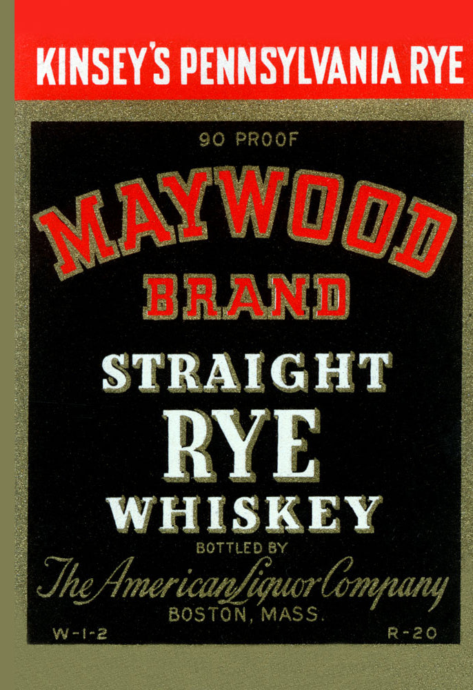 MAYWOOD BRAND STRAIGHT RYE WHISKEY