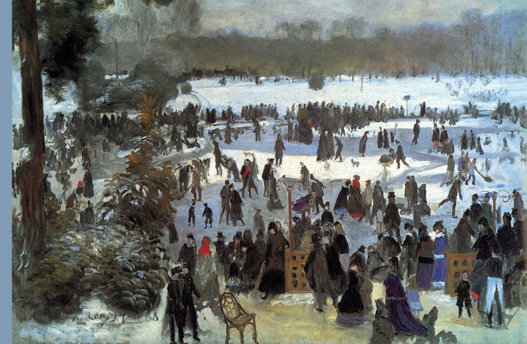 SKATING RUNNERS IN THE BOIS DE BOLOGNE
