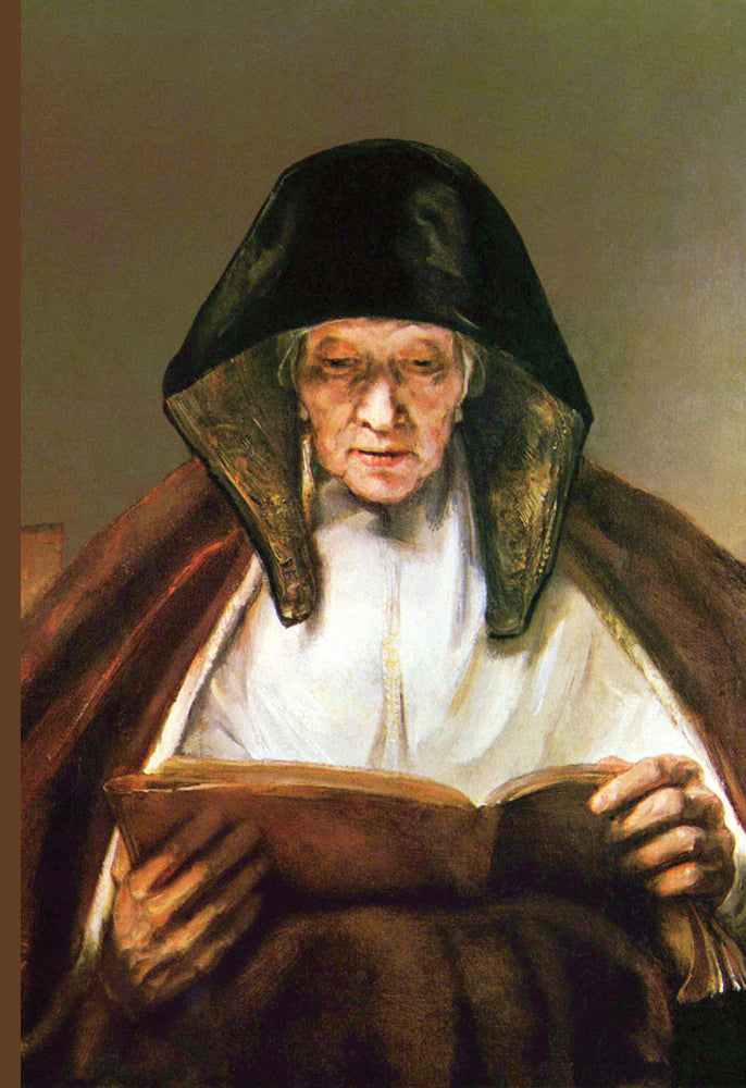 OLD WOMAN, READING