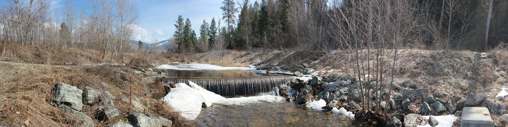 WINTER STREAM WATERFALL