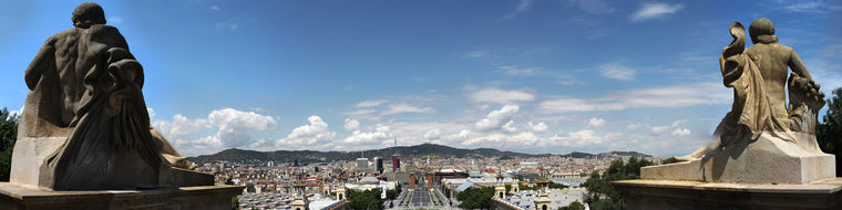 BARCELONA, FROM THE PALAU NACIONAL ON MONTJUIC
