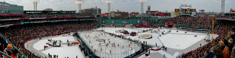 WINTER CLASSIC HOCKEY AT FENWAY PARK