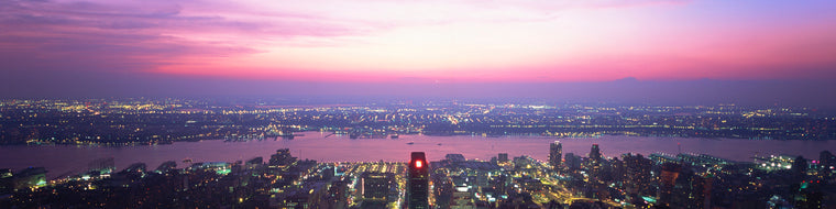 VIEW OF NYC AT SUNSET