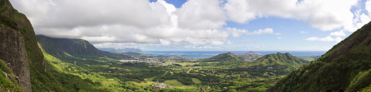 HAWAIIAN VIEW FROM THE MOUNTAINS