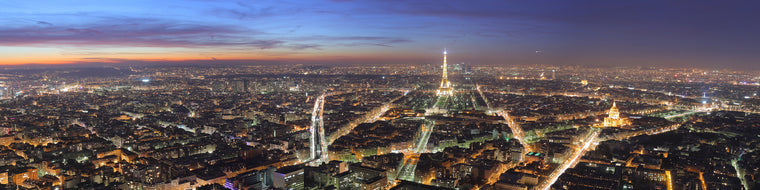 NIGHTTIME PANORAMIC IN PARIS