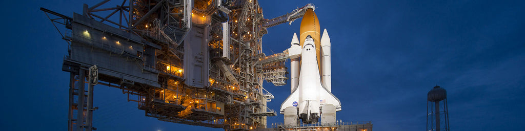 SPACE SHUTTLE ATLANTIS SET FOR TAKE-OFF