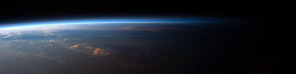 SUNSET OVER SOUTH AMERICA FROM SPACE