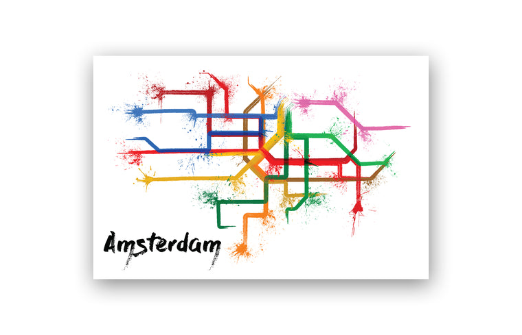 World Splatter Railroad Map Amsterdam