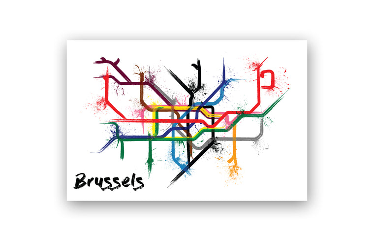 World Splatter Railroad Map Brussels