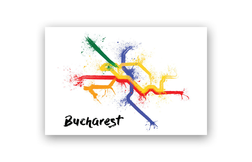 World Splatter Railroad Map Bucharest