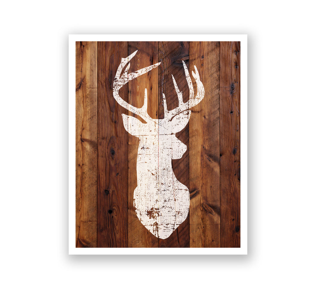 Wooden Wall Art - Buck Silhouette