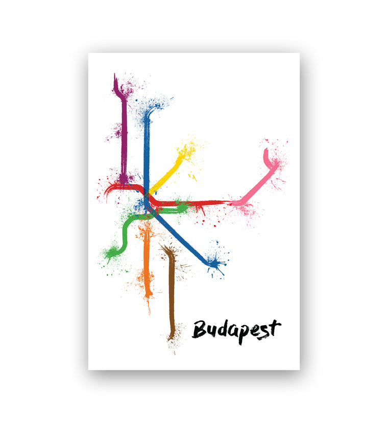 World Splatter Railroad Map Budapest